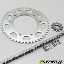 Kit chain reinforced with O-rings 11x48x126 MBK, Malaguti,  Yamaha 50 ... Afam gray