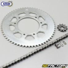 Kit chaîne 11x62x140 HM, Moto Villa, Vent 50 Afam gris