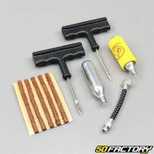 "Tire puncture repair kit with wicks ""braids"""