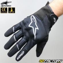 Gloves racing Alpinestars Atom black and white