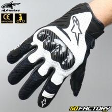 Gloves racing Alpinestars SMX-1 Air V2 black and white