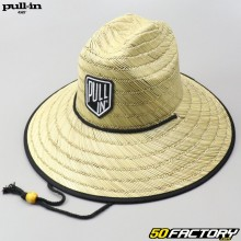 Pull-in straw hat