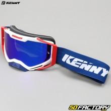Gafas Kenny Ventury azul y blanca lente de iridio azul