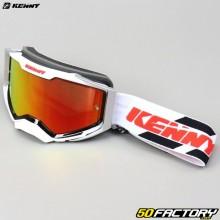 Gafas Kenny Ventury gris y blanco con lentes iridio rojo