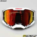 Máscara Kenny Ventury pantalla roja iridio blanca y gris