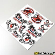 Planche de stickers No Fear 30x30cm