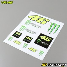 Stickers VR46 Monster Dual 20x24cm (planche)