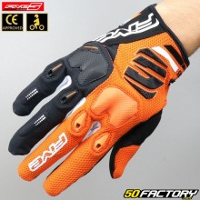 Gloves cross Five E-2 CE approved orange motorcycle