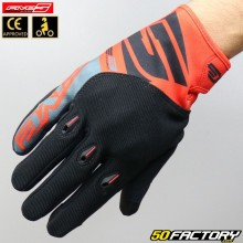 Gloves cross Five E-3 Evo CE approved motorcycle red