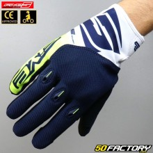 Gloves cross Five E-3 Evo CE approved blue motorcycle