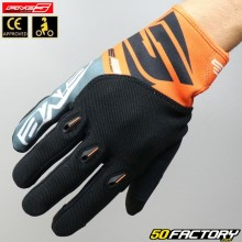 Gloves cross Five E-3 Evo CE approved motorcycle oranges
