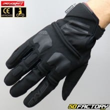 Gloves cross Five E-WP CE approved black motorcycle