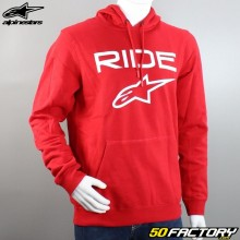Hooded sweatshirt Alpinestars Ride 2.0 red and white