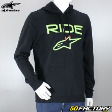 Sweatshirt hoodie Alpinestars Ride 2.0 black and green