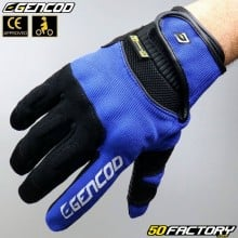 Gloves Gencod  Pro Evo motorcycle CE approved blue