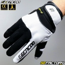 Gloves Gencod  Pro Evo motorcycle CE approved white