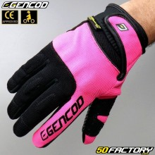 Gloves Gencod  Pro Evo motorcycle CE approved pink