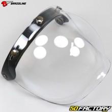 Visière bulle relevable pour casque jet Brazoline écran clair