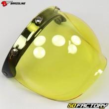 Visière bulle relevable pour casque jet Brazoline écran jaune