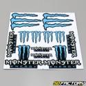 Planche de stickers Monster 30x30cm bleue