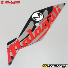 Original lower right front fairing sticker Malaguti XSM  et  XTM (from 2019) red