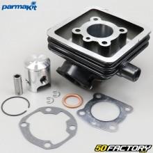 Aluminum piston cylinder 6 transfers Peugeot 103 SP, RCX,  SPX... liquid Parmakit
