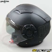 Casque jet Pull-in Open Face Solid noir mat