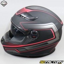 Full face helmet Vito Falcone matt black and red