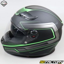Full face helmet Vito Falcone matt black and green