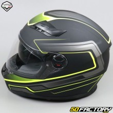 Full face helmet Vito Falcone matt black and neon yellow