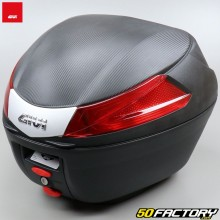 Top case Givi B34 black with red reflectors