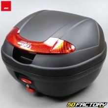 Top case 34L Givi E340 Vision noir avec catadioptres rouges