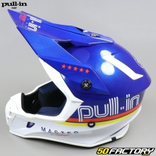 Casque cross Pull-in Master bleu