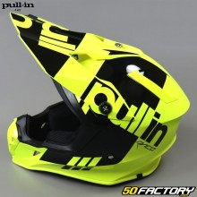Casque cross Pull-in Race jaune fluo