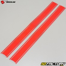 Triple striped stickers Brazoline red (x2)