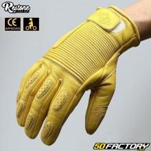Guantes Restone Moto amarilla aprobada por CE