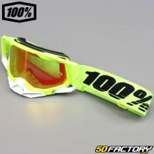 Gafas 100% Racecraft Pantalla de iridio rojo amarillo neón 2