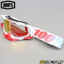 Gafas 100% Racecraft Pantalla de iridio rojo 2 St-Kith