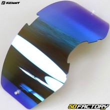 Visera para gafas Kenny Performance con sistema de desprendimiento de iridio azul