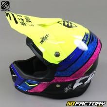 Helmet cross child Freegun XP4 Stripe neon yellow