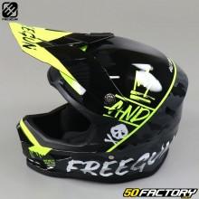 Helmet cross child Freegun XP4 Neon yellow camo