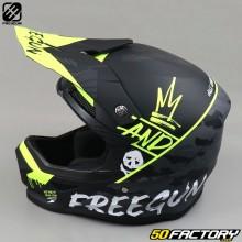 Helmet cross Freegun XP4 Neon yellow camo