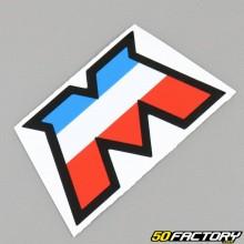 Stickers logo M tricolore Motobécane (77x43mm)