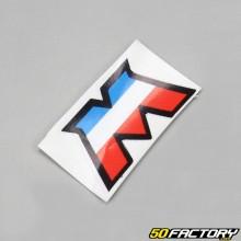 Stickers logo M tricolore Motobécane (40x23mm)