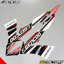 Decoration kit Yamaha TZR, MBK Xpower 50 (since 2003) Gencod black and red