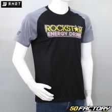T-shirt Shot Rockstar schwarz und grau