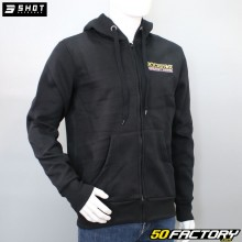 Kapuzensweatshirt mit Reißverschluss Shot Rockstar Posh, schwarz