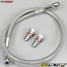 Aviation type rear brake hose Yamaha YFZ 450 R Streamline gray