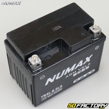 Battery Numax YB4L-B SLA 12V 4Ah acid without maintenance Derbi Senda 50, Aprilia, Honda 125 ... Numax