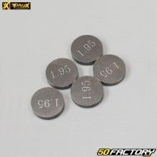 Pastilles calibrées de soupapes Ø10mm épaisseur 1.95mm Beta RR, KTM EXC 450… Prox (lot de 5)